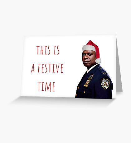 Tarjeta de Navidad de Holt de Brooklyn Nine Nine Nine / etiqueta, meme tarjetas de felicitación Tarjeta de felicitación