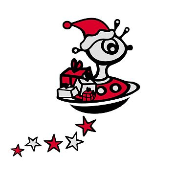 Santa Claus Alien UFO Christmas by boom-art