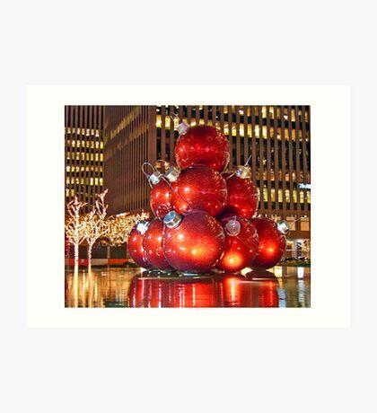 Christmas in New York City Art Print