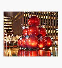 Christmas in New York City Photographic Print