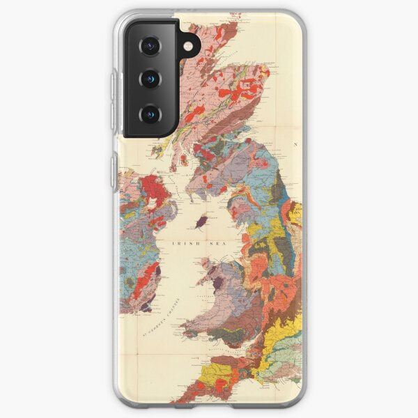 Vintage Geological Map of The British Isles (1912) Samsung Galaxy Soft Case
