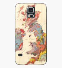 Vintage Geological Map of The British Isles (1912) Case/Skin for Samsung Galaxy