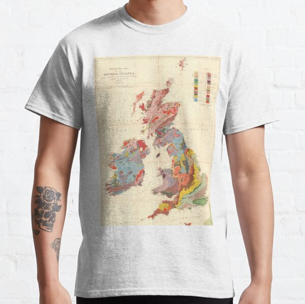 Vintage Geological Map of The British Isles (1912) Classic T-Shirt