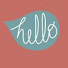 Hello in a speech bubble by Florcitasart