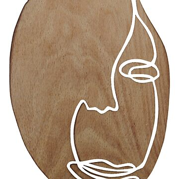 Wood Abstract Face by elliemar