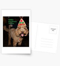 Postales Feliz Navidad para ti cachorro, Labradoodle Tarjeta de Navidad