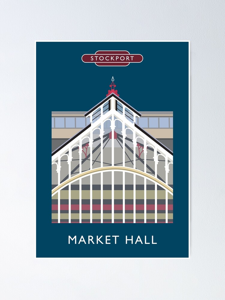 Alternate view of STOCKPORT - Market Hall Poster