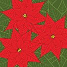 Red Poinsettia Christmas Flower by Ryan McGurl