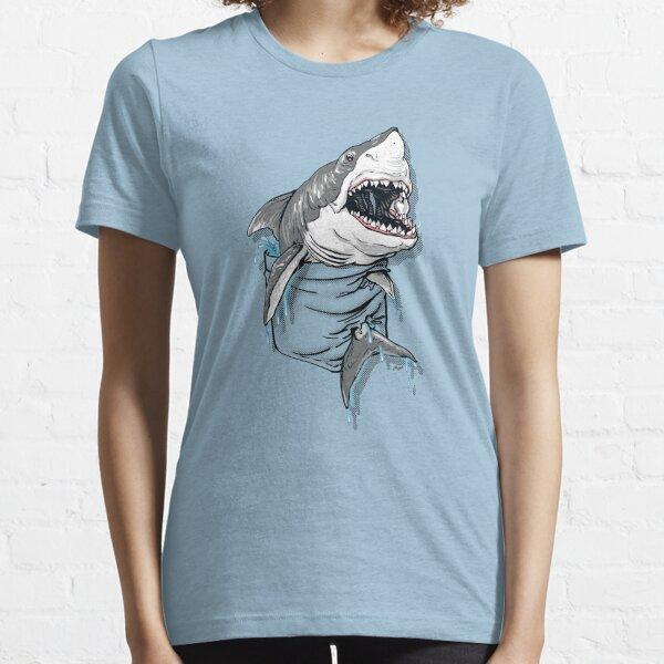 Pocket Great White Shark Essential T-Shirt