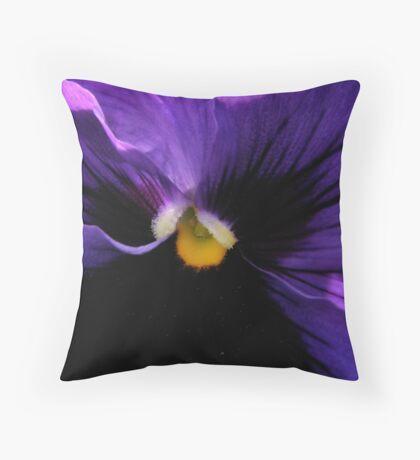 Pansy - Georgia O'Keefe Style (20,000+ Views) Throw Pillow