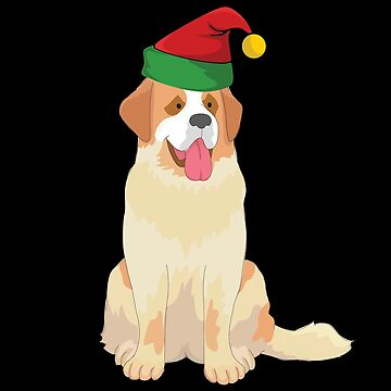 St Bernard Dog Christmas Design  by kudostees