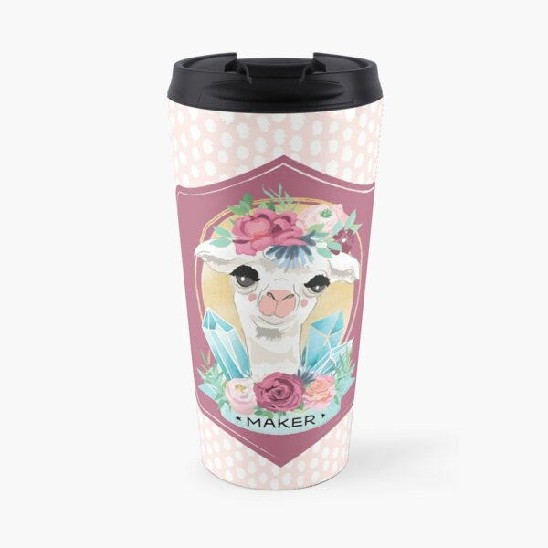Dotty Alpaca Maker for knitters, crocheters, all crafters Travel Mug