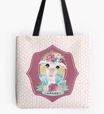Dotty Alpaca Maker for knitters, crocheters, all crafters Tote Bag