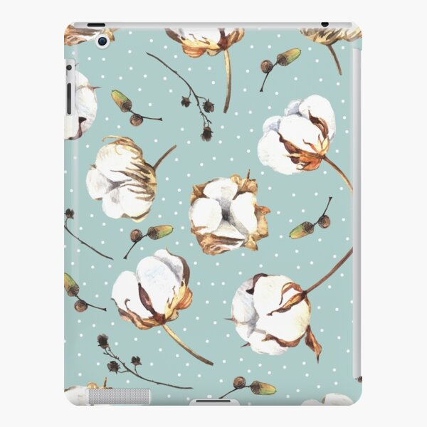 Watercolor pattern with cotton flowers iPad Snap Case