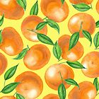 Watercolor tangerines by Katerina Kirilova