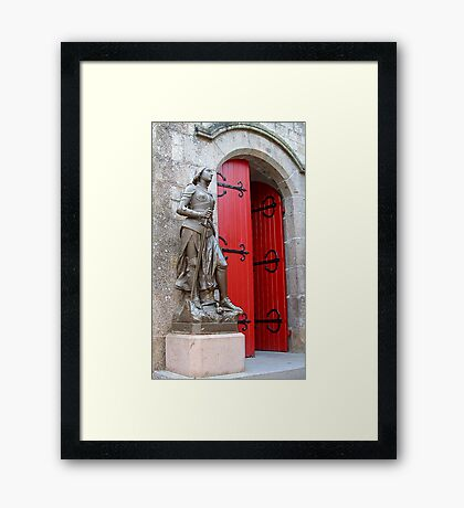 Mt St Michel village church Framed Print
