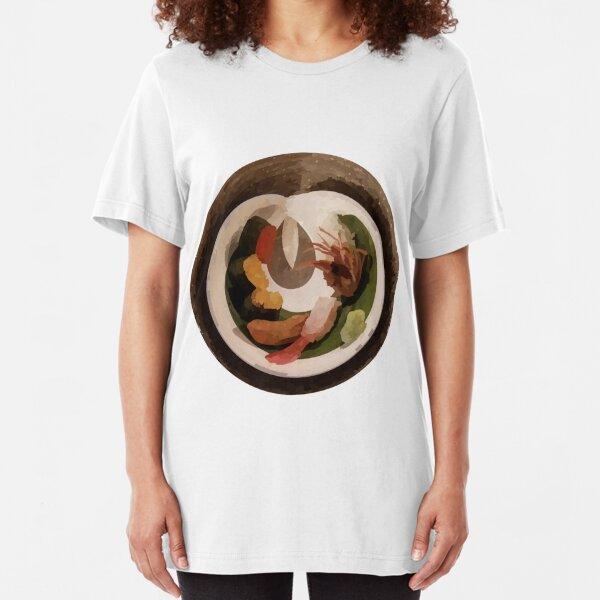 "Sushi ""painting"" Slim Fit T-Shirt"