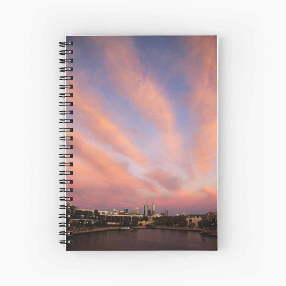 Perth City Skyscape Spiral Notebook