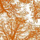 «Siluetas de árboles de mandarina» de by-jwp