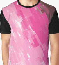 Cute design blocks Pink Graphic T-Shirt