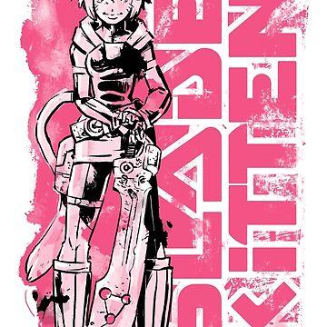Blade Kitten - Black, White and Pink by falterdan
