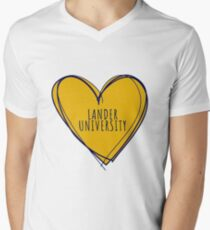 LANDER UNIVERSITY Men's V-Neck T-Shirt