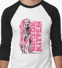 Blade Kitten - Schwarz, Weiß und Pink Baseballshirt für Männer