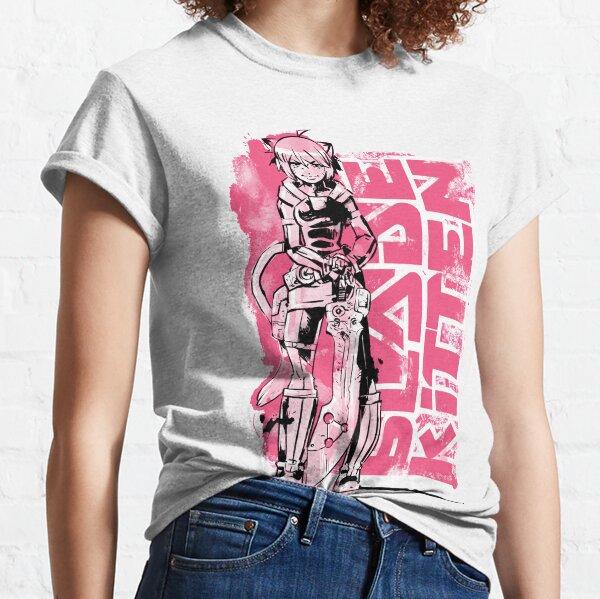 Blade Kitten - Black, White and Pink Classic T-Shirt