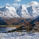 Five Sisters of Kintail. Snow Scene. Mam Ratagan. Scottish Highlands. by Barbara  Jones ~ PhotosEcosse