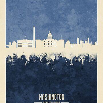 Washington DC Skyline by ArtPrints
