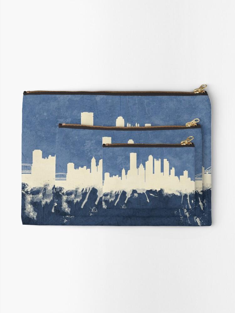 Alternative Ansicht von Pittsburgh Pennsylvania Skyline Täschchen