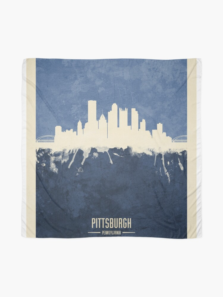 Alternate view of Pittsburgh Pennsylvania Skyline Scarf