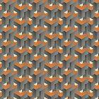 Gebrannte Orange auf Beton von OkopipiDesign