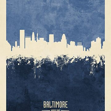 Baltimore Maryland Skyline by ArtPrints