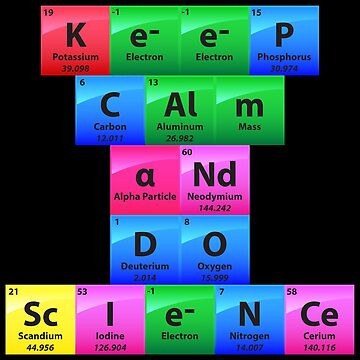 Keep Calm And Do Science - Chemistry Quotes Gift by yeoys