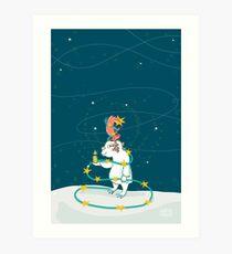 Yeti & Hirsch als Weihnachtsbaum Kunstdruck