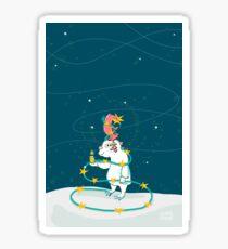 Yeti & Hirsch als Weihnachtsbaum Sticker