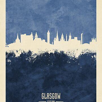 Glasgow Scotland Skyline by ArtPrints