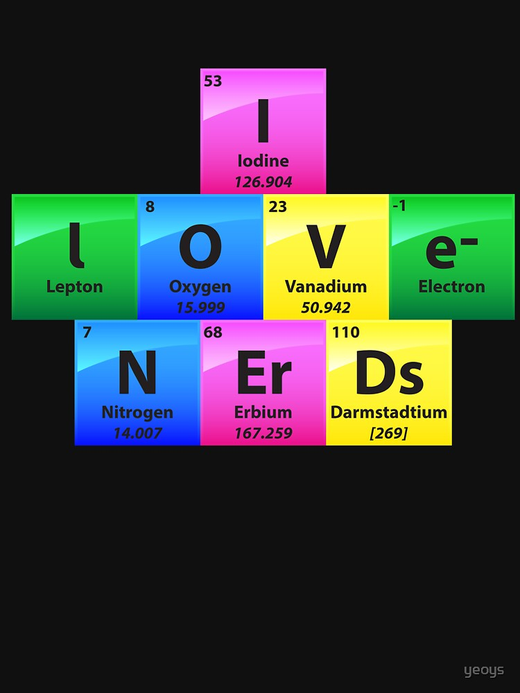 I Love Nerds Periodic Table Of Elements - Chemistry Quotes Gift von yeoys