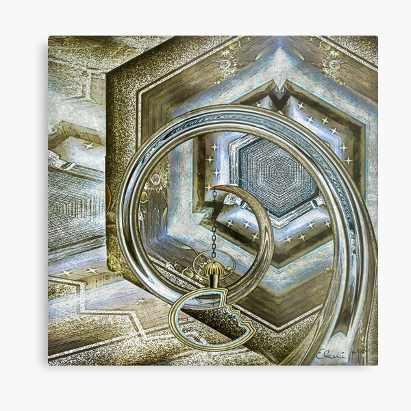 PRESSED FOR TIME Metal Print
