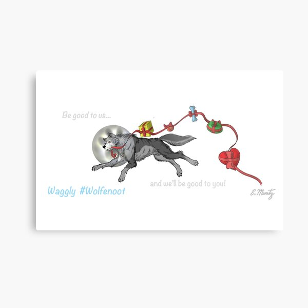 Waggly Wolfenoot Metal Print
