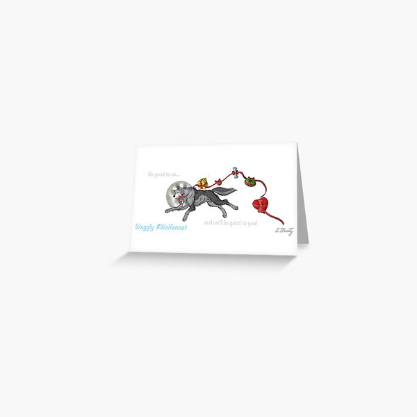 Waggly Wolfenoot Greeting Card