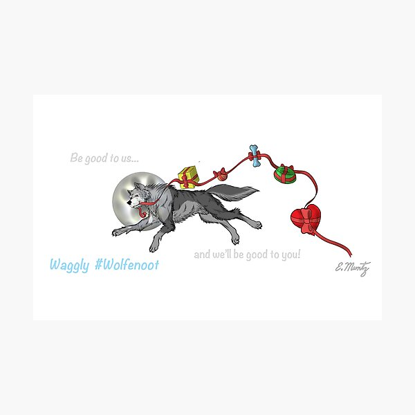 Waggly Wolfenoot Photographic Print