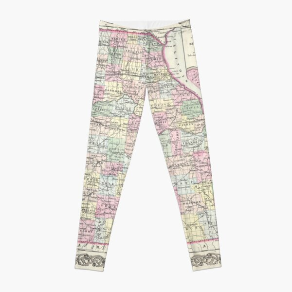 Vintage Map of Missouri (1855) Leggings