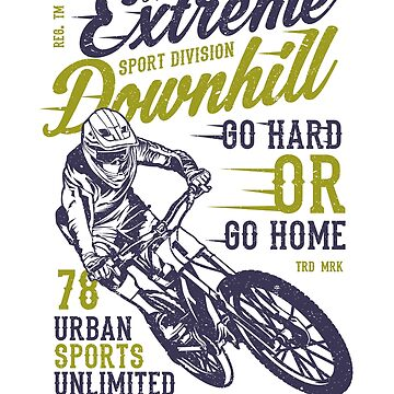 THE EXTREME DOWNHILL 78 URBAN SPORTS UNLIMITED    T-SHIRT by daniele2016