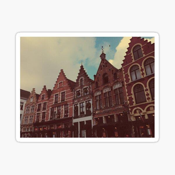 Bruges Markt (Market Square) in Christmas Sticker