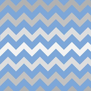 Gradient Grey Chevron on Blue by TimorousEclectc