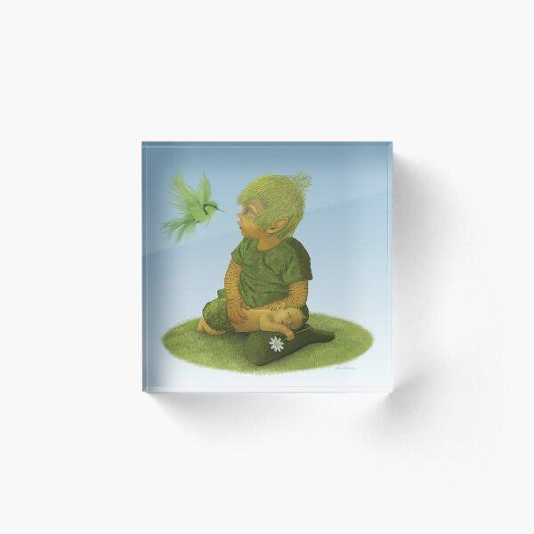 Pixie's Lullaby Bird Acrylic Block