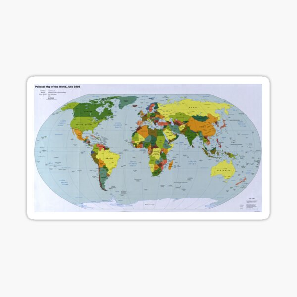 Map of The World (1998) Sticker