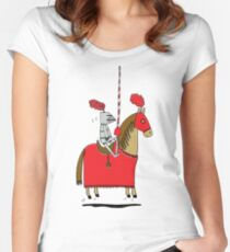 Jumpy Knight Women's Fitted Scoop T-Shirt